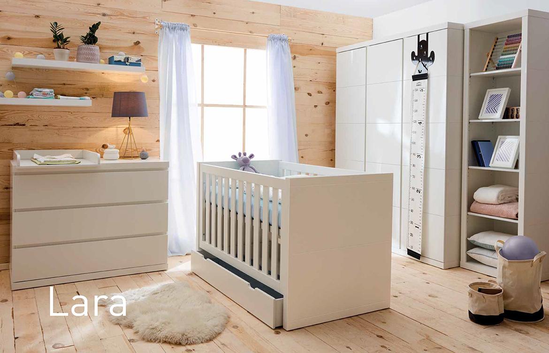 Meble dziecięce Pinio, kolekcja Lara, łóżeczko dziecięce 140x70