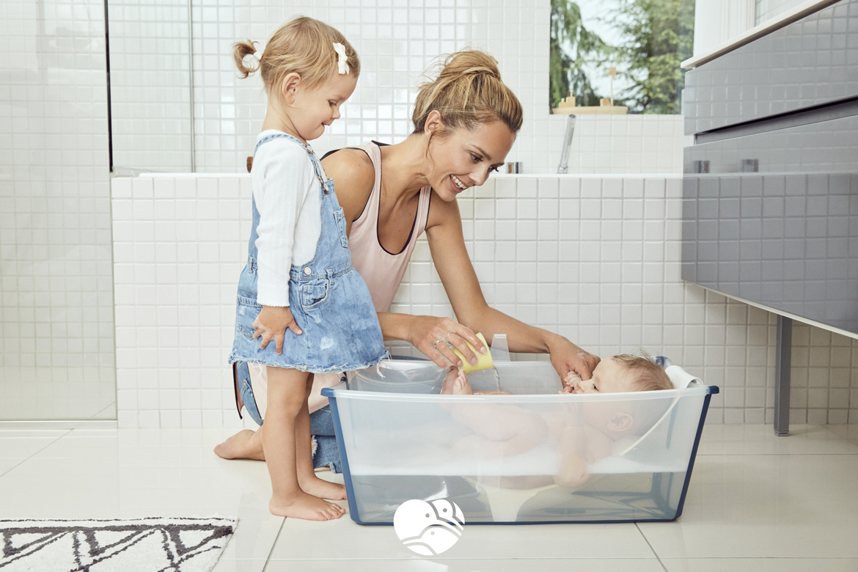 Wkładka Niemowlęca do wanienki Stokke Flexi Bath to właściwe podparcie pleców podczas kąpieli. 3kiwi.pl