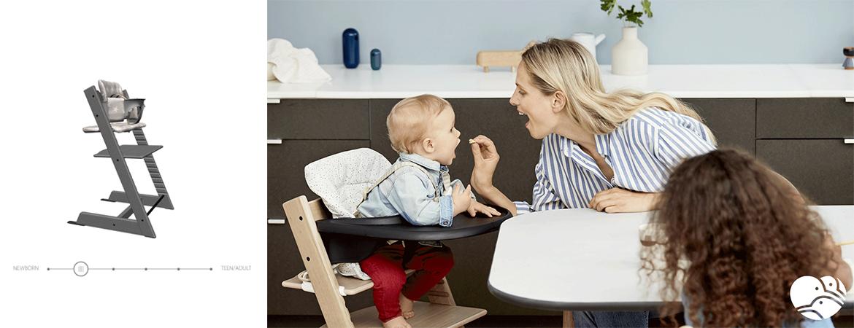 Krzesełko Stokke Tripp Trapp po etapie niemowlęcym należy używać z dedykowaną wkładką Baby Set