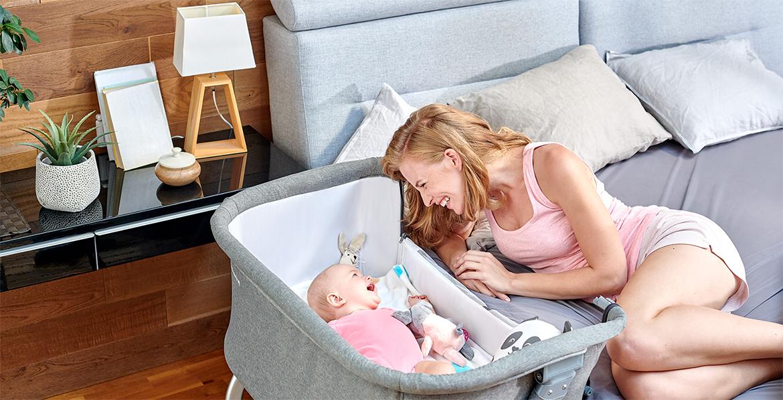 tanie i solidne łóżeczko dostawne dla dziecka niemowlęcia Kinderkraft Neste