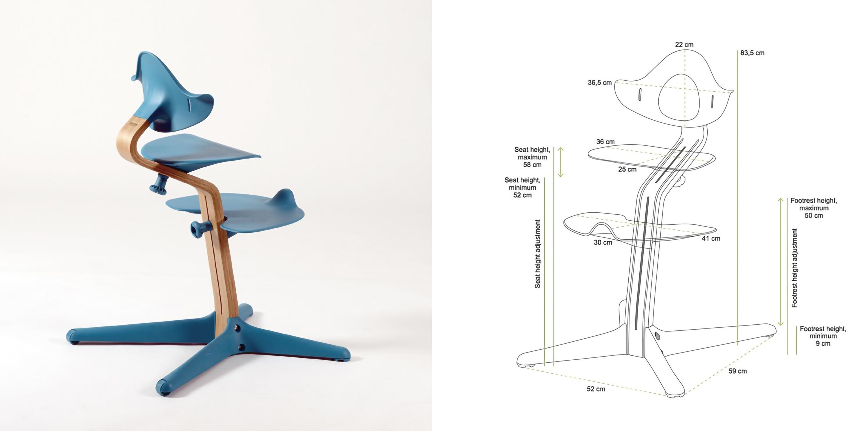 Krzesełko Nomi by Evomove