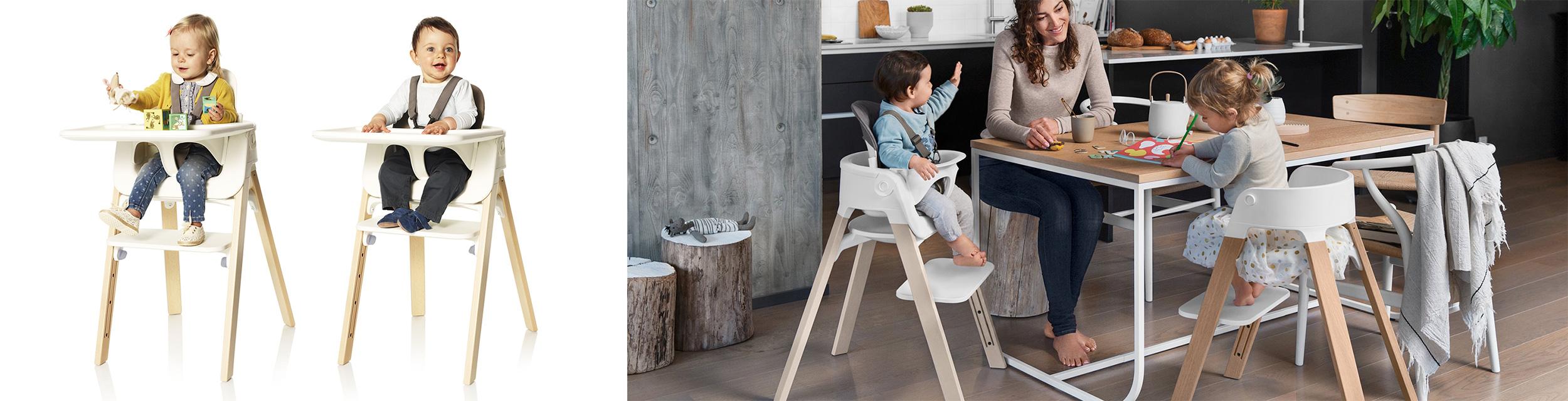 Luksusowe krzesełko do karmienia designerskie Stokke Steps 3kiwi Wroclaw