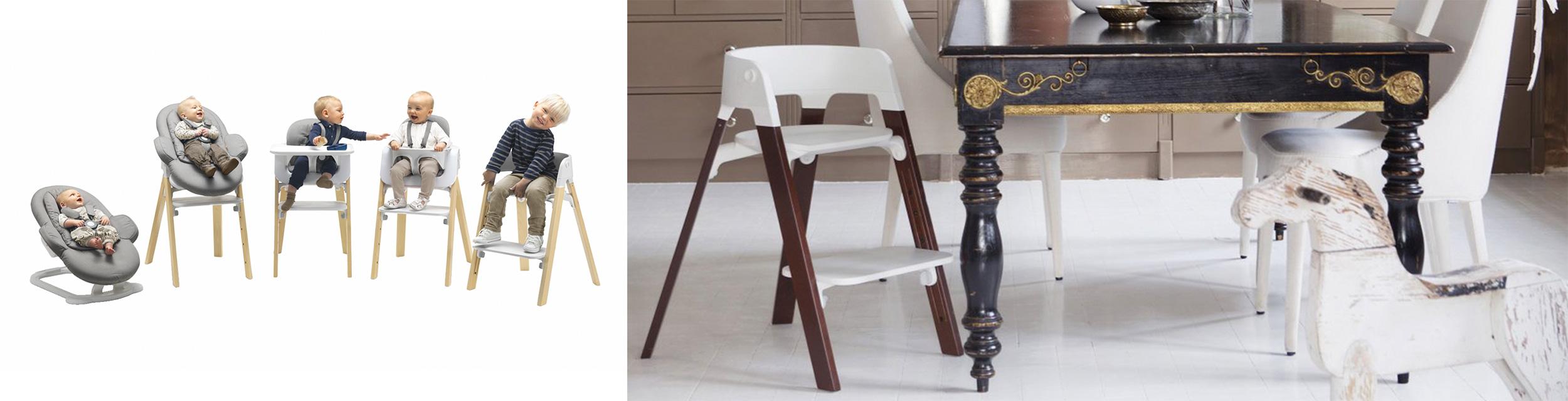 Stokke Steps Krzesełko do karmienia z litego drewna bukowego 3kiwi Wroclaw