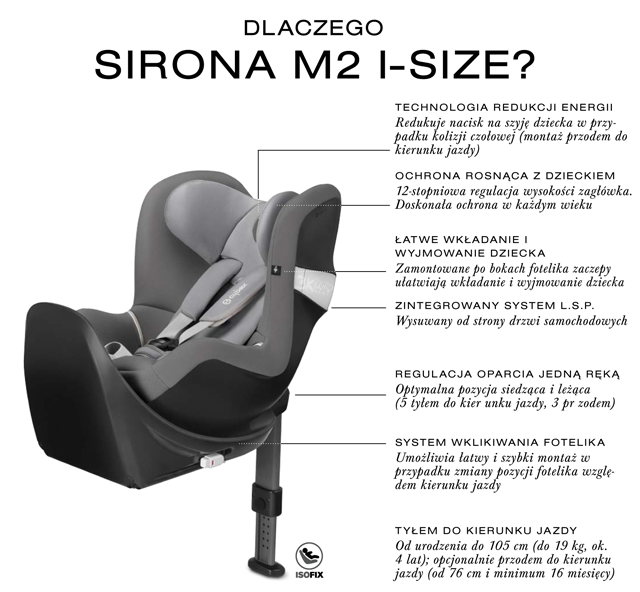cybex gold fotelik sirona m2 i size manhattan grey 0 18kg. Black Bedroom Furniture Sets. Home Design Ideas