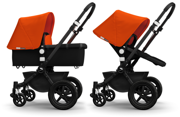 Bugaboo | Cameleon 3 | Wózek Głęboko-Spacerowy 2w1 | Matt Black & Orange