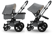 Bugaboo | Cameleon 3 | Wózek Głęboko-Spacerowy | Zestaw 2w1 | The One Classic Collection | Grey Melange