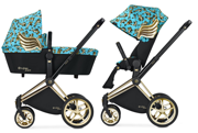 CYBEX BY JEREMY SCOTT | PLATINUM | PRIAM | WÓZEK GŁĘBOKO-SPACEROWY | CHERUBS BLUE