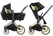 CYBEX BY JEREMY SCOTT | PLATINUM | PRIAM | WÓZEK GŁĘBOKO-SPACEROWY | GOLD WINGS