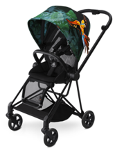 CYBEX MIOS - WÓZEK SPACEROWY - BLACK MATT FRAME / BIRDS OF PARADISE FASHION COLLECTION
