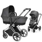 CYBEX | PLATINUM | PRIAM | WÓZEK GŁĘBOKO SPACEROWY | LUX COT & LUX SEAT & CHROME FRAME | MANHATTAN GREY