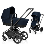 CYBEX | PLATINUM | PRIAM | WÓZEK GŁĘBOKO SPACEROWY | LUX COT & LUX SEAT & MATT BLACK FRAME | MIDNIGHT BLUE
