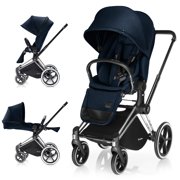 CYBEX | PLATINUM | PRIAM | WÓZEK SPACEROWY | LUX SEAT & CHROME FRAME | MIDNIGHT BLUE