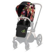 Cybex | Priam 2.0 | Seat Pack | Tekstylia Siedziska Spacerowego | Spring Fashion Collection | Dark Blossom