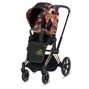 Cybex | Priam 2.0 | Wózek Spacerowy | Spring Fashion Collection | Dark Blossom