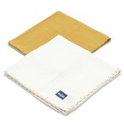 La Millou | 2Pack Pieluszka 100% Cotton Muślin | Honey & Off White