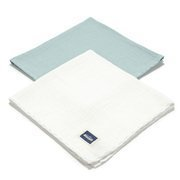 La Millou | 2Pack Pieluszka 100% Cotton Muślin | Mint & Off White