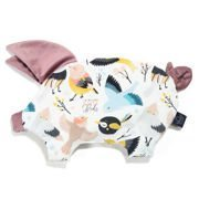La Millou | Velvet Collection | Sleepy Pig | Poduszka | Cute Birds Vivid | French Lavender