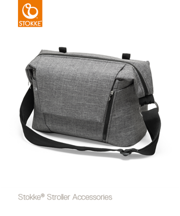 STOKKE | CHANGING BAG | TORBA 2W1 | BLACK MELANGE