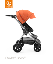 STOKKE® SCOOT BAZA BLACK  / BUDKA ORANGE 2017 EDITION