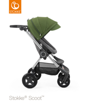 STOKKE® SCOOT BAZA BLACK MELANGE / BUDKA GREEN 2017 EDITION