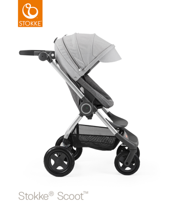 STOKKE® SCOOT BAZA BLACK MELANGE / BUDKA GREY MELANGE 2017 EDITION