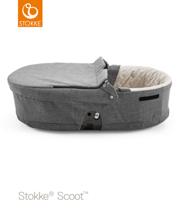 STOKKE® SCOOT GONDOLA  CARRYCOT BLACK MELANGE