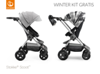 STOKKE® SCOOT WÓZEK SPACEROWY BLACK / GREY MELANGE + WINTER KIT FLANNEL GREY GRATIS!