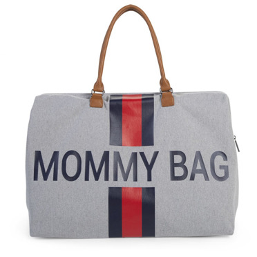 Childhome | Mommy Bag | Duża Torba Podróżna | Navy Blue + Red Strips