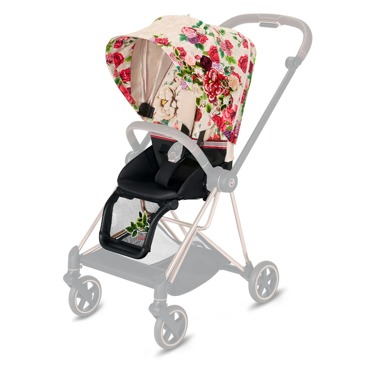 Cybex | Mios 2.0 | Seat Pack | Tapicerka Siedziska Spacerowego | Fashion Collection | Spring Light Blossom