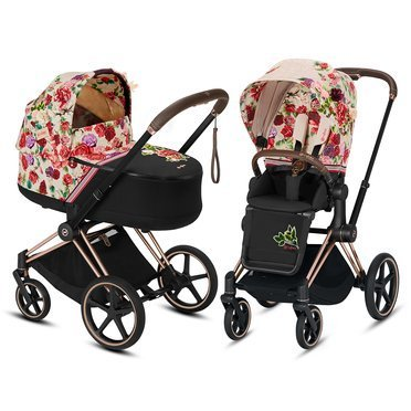 Cybex | Priam 2.0 | Wózek Głęboko-Spacerowy | Zestaw 2w1 | Fashion Collection | Spring Light Blossom