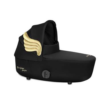 Cybex by Jeremy Scott | Mios 2.0 | Carrycot | Gondola | Fashion Collection | Black + Gold Wings