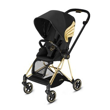Cybex by Jeremy Scott | Mios 2.0 | Kompaktowy Wózek Spacerowy | Black + Gold Wings