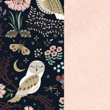 La Millou | 2Pack Pieluszka 100% Bamboo Muślin | Magic Owl | Powder Pink