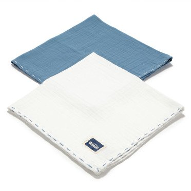 La Millou | 2Pack Pieluszka 100% Cotton Muślin | Navy & Off White