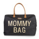 Childhome | Mommy Bag | Duża Torba Podróżna | Black + Gold
