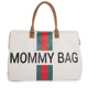 Childhome | Mommy Bag | Duża Torba Podróżna | Green + Red Strips